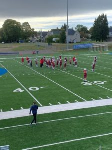 The hometown Hancock Bulldogs prepared to take on visiting Negaunee on Sunny 101.9FM.
