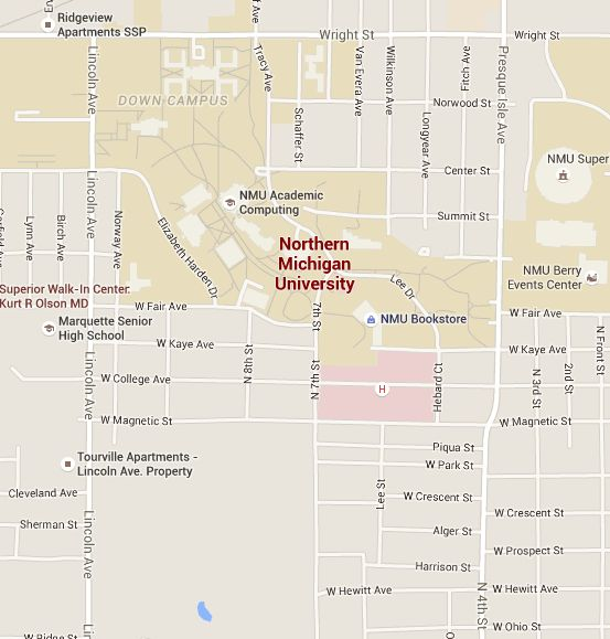 Find Northern Michigan University with Google Maps