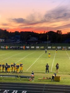 A beautiful sunset overlooked Miners Stadium where Negaunee defeated Houghton 35-0 to improve to 6-2 on the season on Sunny 101.9.
