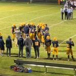 A Negaunee huddle during Friday night's game against Houghton.