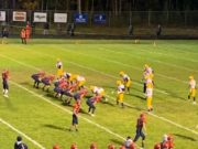 Westwood lines up on offense during its big 42-14 win over Negaunee on Sunny 101.9.