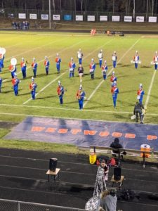 The Westwood band performs during halftime of tonight's Negaunee-Westwood football game.