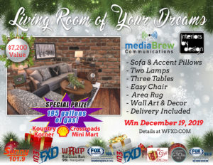 Win over $7,000 of furniture on Thursday, December 19th.