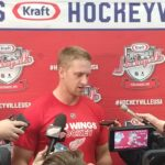 Anthony Mantha is currently leading Detroit in goal scoring.