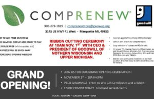 Attend the Goodwill COMPRENEW Grand Opening this Friday from 10-6pm!