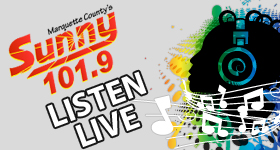 Surf & Listen - Sunny 101.9 Live Internet Stream for Negaunee Miners Sports, The Shopping Show, and other special shows and events