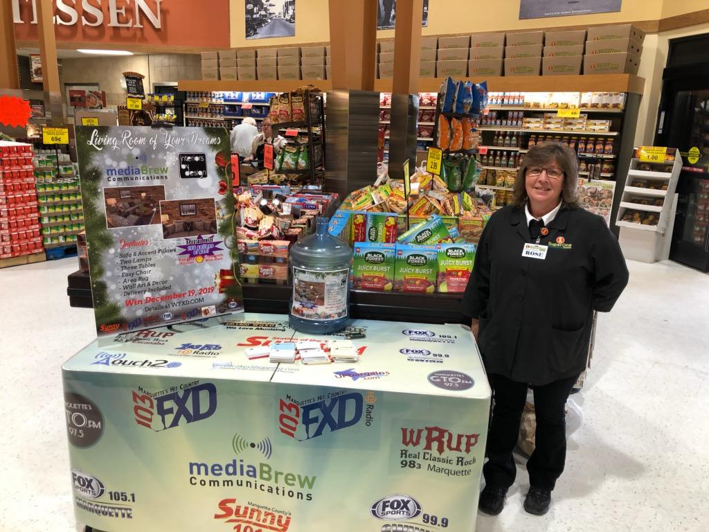 Head over to Marquette Super One Foods to register to be a part of our Living Room of Your Dreams Giveaway!