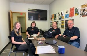 Ellen Rapp (pictured far left) with the rest of The Caregiver Incentive Project organization leaders