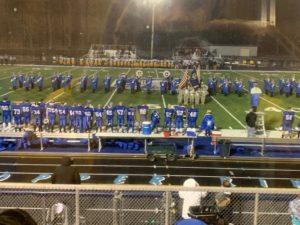 The Calumet High School band performs before Calumet's 42-14 win over Negaunee.