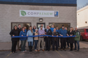 The ribbon cutting at COMPRENEW