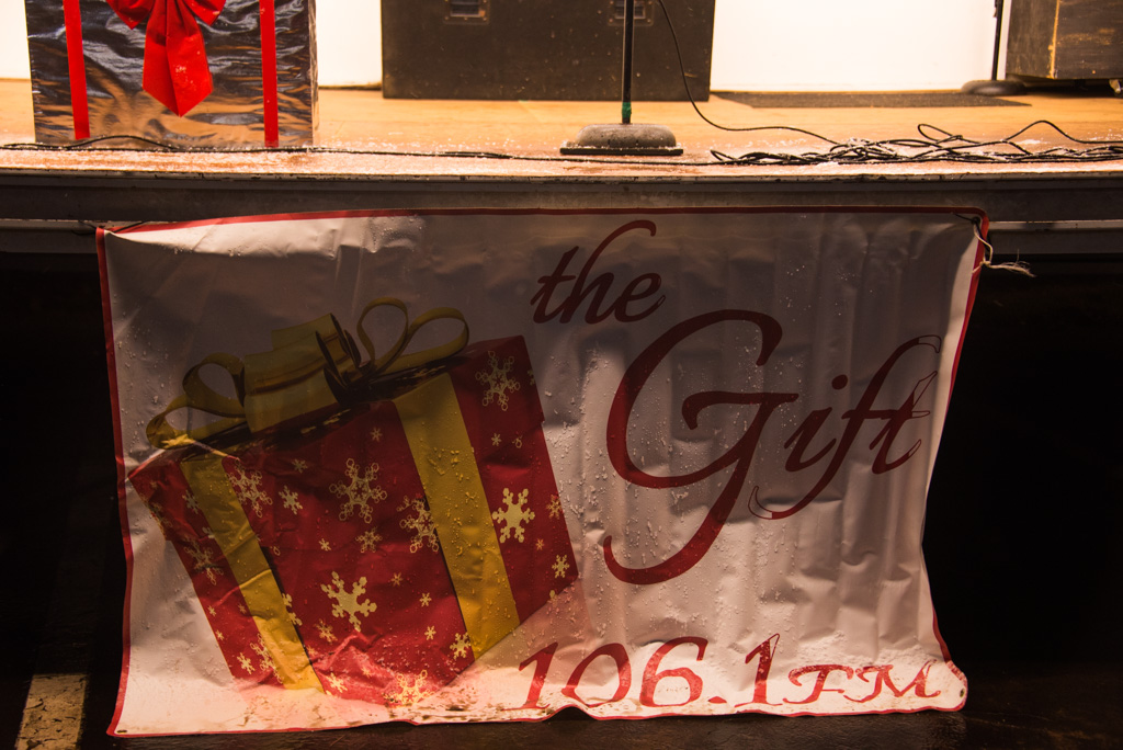 Before the carols we were playing the Christmas Station 106.1 The Gift from the speakers!