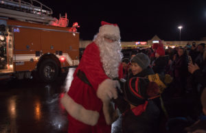 The kids were so happy to see Santa Claus.