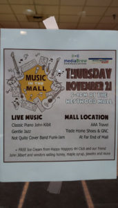 Music in the Mall is every Third Thursday of the month from 5-8pm