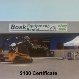UPBargains.com – Deal of the Day: Bosk Equipment & Party Rental $100 certificates for $60!!