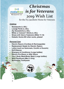 The 2019 D.J. Jacobetti Home for Veterans Christmas is for Veterans Wish List