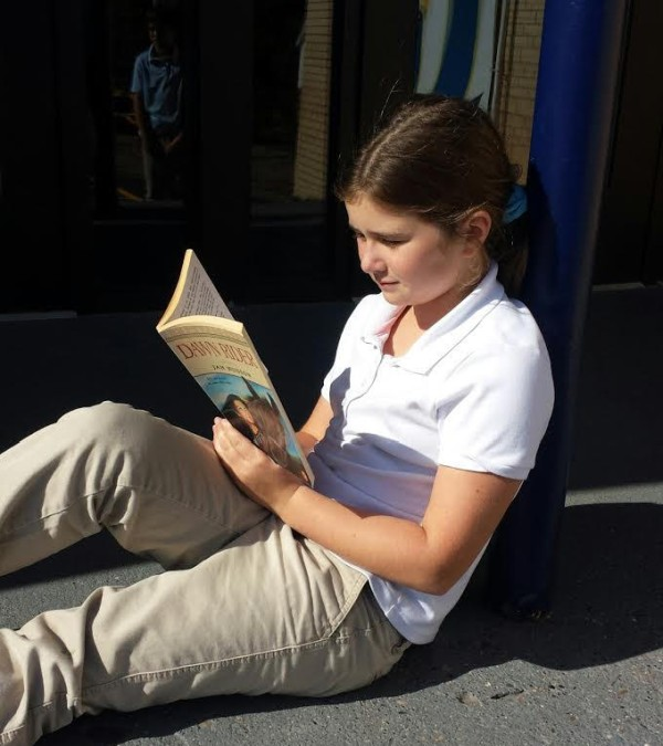 Gift of Reading - 4th grader Lily Smigiel Enjoying Independent Reading