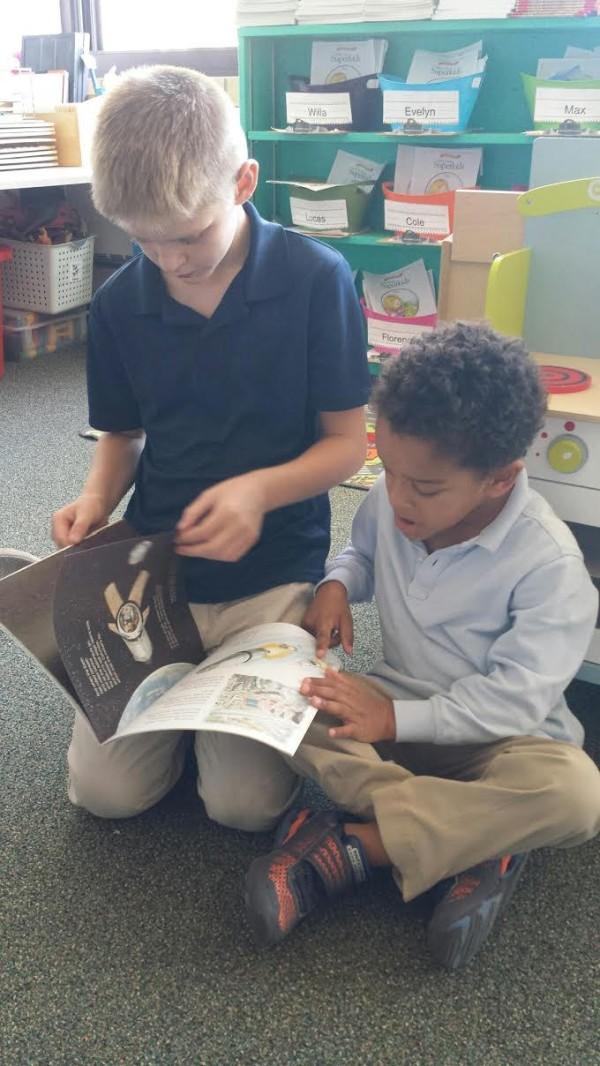 Gift of Reading - Owen Maskart Reads to Kindergartener Max Geschwindt