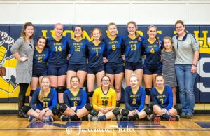 The Negaunee Miners Volleyball team (Photo by Daryl Jarvinen)