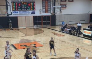 Alyssa Hill drives baseline to the rim in Negaunee's 50-48 heartbreaking loss to Escanaba on Sunny 101.9.