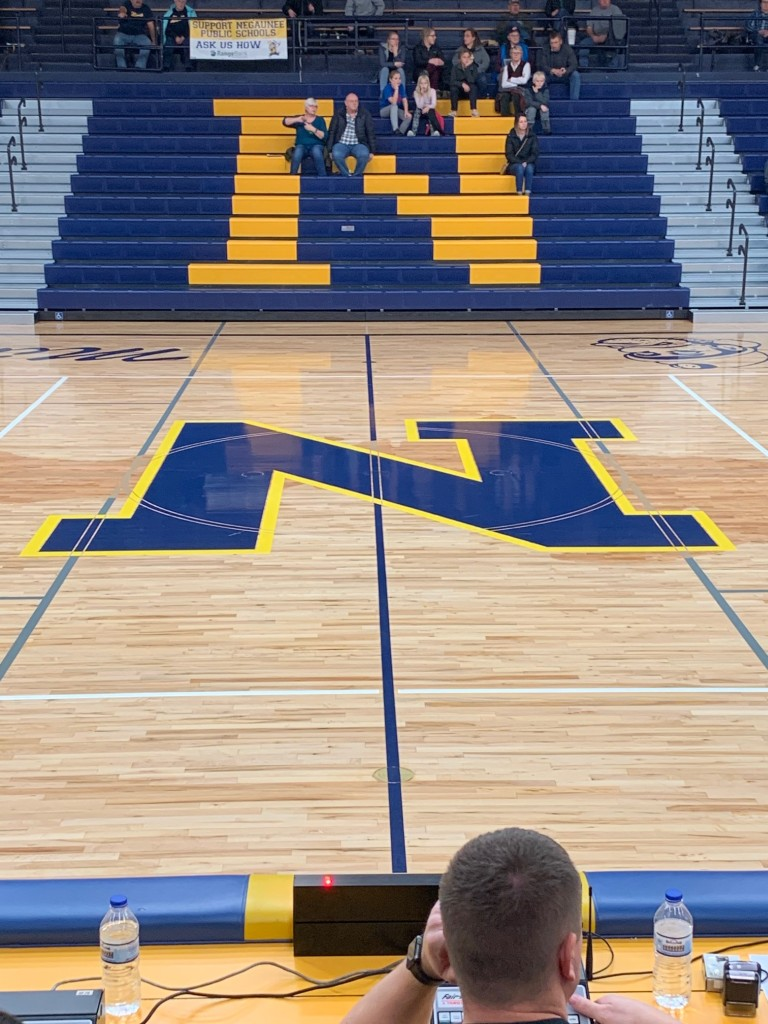 The Miners' revamped floor this season looked awesome!
