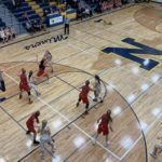 Negaunee fell in a close game against Marquette by a score of 35-32.