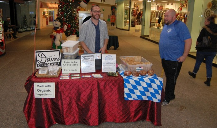Music at the Mall - D and H Pretzels, delicious salted pretzels, and chocolates. Pictured is Davin