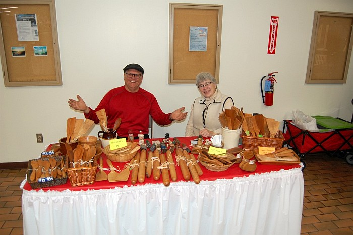 Music at the Mall - Suzie Wolfe with wood creations, rolling pins, cutting boards, and more
