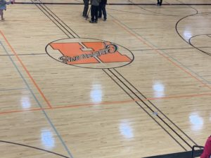 Center court of the Houghton Gremlins.