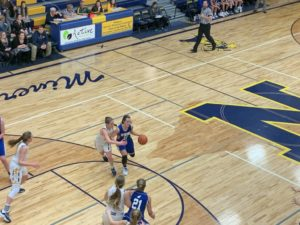 Another possession of tough defense being played by the Negaunee Miners in their 62-39 win over West Iron County on Sunny 101.9.