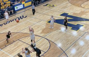 Morgan Carlson shoots a free throw for the Miners in their 47-34 win over Gwinn.