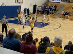 Negaunee's Alyssa Hill goes up for the layup during its 53-42 victory over Ishpeming.