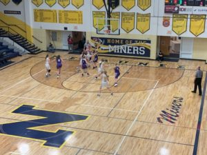 Both teams battled in the paint all night long in Lakeview Memorial Gymnasium.