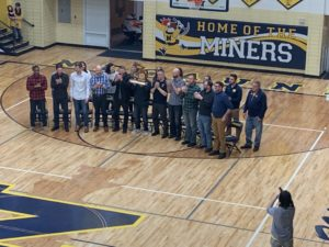 The 2000 MHSAA Class C Negaunee Miners Boys Basketball State Championship team was honored tonight for the 20th anniversary of winning the title.