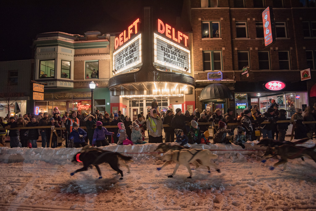 The UP 200 Sled Dog Race Sends Mushers and their teams right through the heart of Marquette.