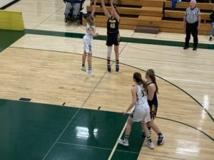 Alyssa Hill takes the shot during Negaunee's 48-18 win over Manistique.