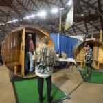 Step inside of displays of saunas Keweenaw Saunas