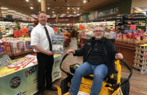 mediaBrew owner Chuck Williams was there to bring the Cub Cadet Ultima mower to Super One in Marquette