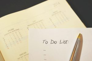 Write a to do list to keep track of projects