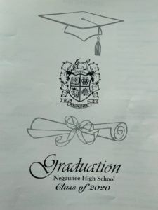 The cover of the graduation program.