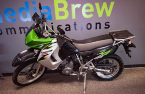 This Green, Black and Silver Kawasaki has less than 21,000 miles on it.