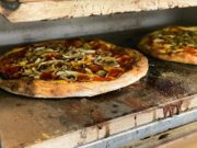 A fresh pizza from Pizzeria Mozzi