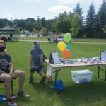 There were businesses and organizations all over the quad.