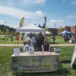 Lauren, Chuck, Eric, and Sabrina representing mediaBrew Communications at Fall Fest.