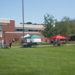 The Student run organizations were set up yesterday.