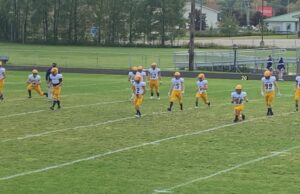 Negaunee warming up for its contest with Gladstone on Sunny 101.9.