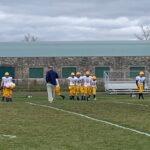 Negaunee prepares for Saturday's game during warm ups.