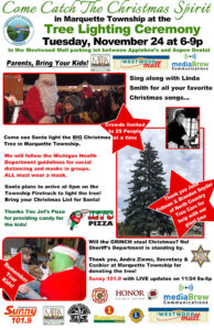 Join us in the Westood Mall Parking Lot for the Tree Lighting Ceremony