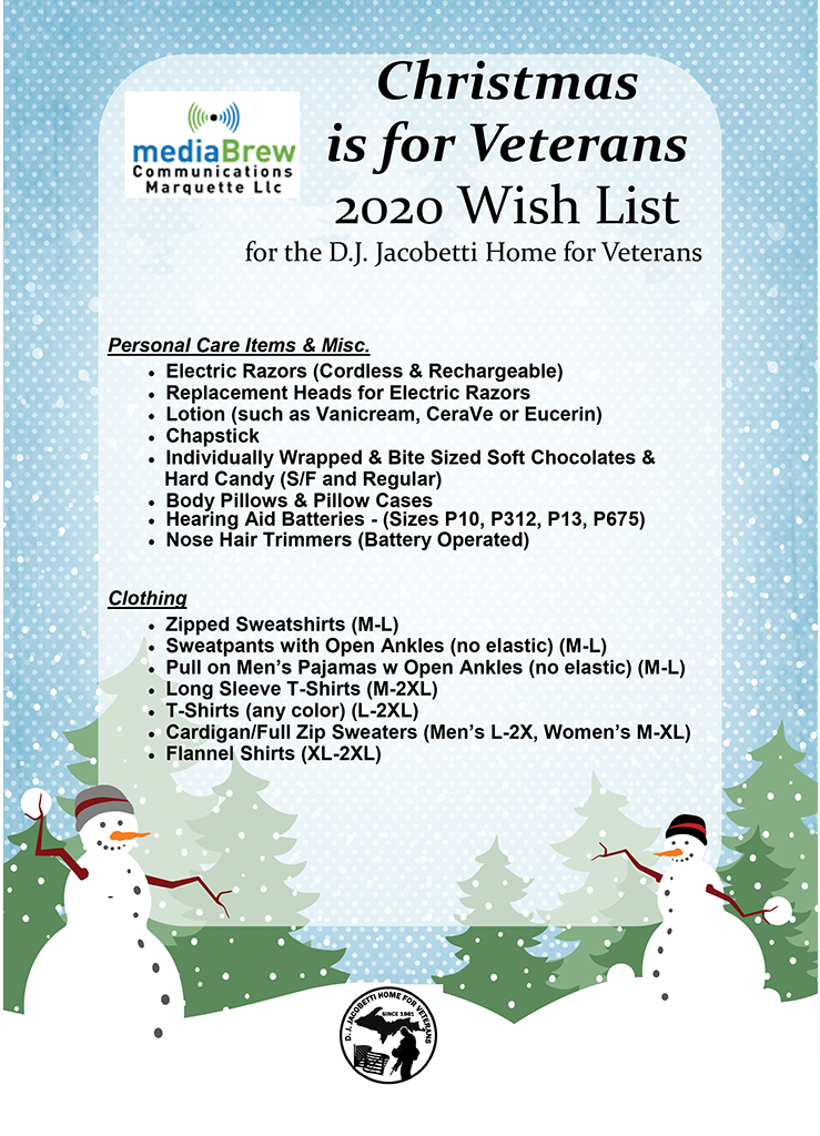 Donate an Item off the Christmas is For Veterans Wish List.