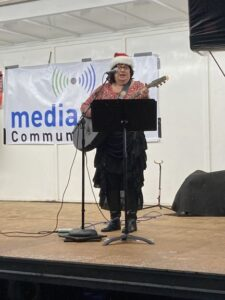 Linda Smith came to sing some Christmas Classics.