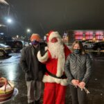 Kids came out to give their wish lists to Santa